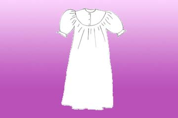 girls rounded summer nightgown