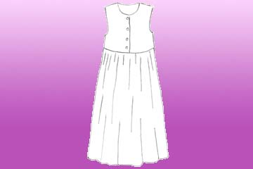 girls snowflakes pinafore