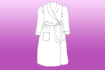 girls statice dressing gown
