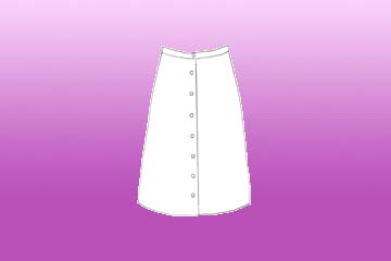 ladies buttoned aster skirt