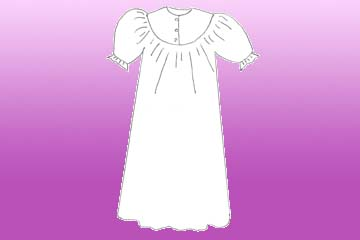 ladies rounded summer nightgown
