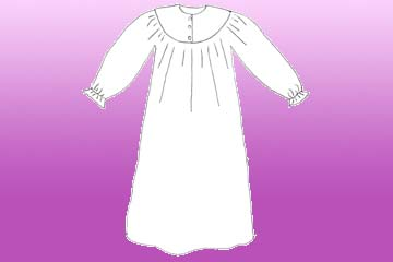 ladies rounded winter nightgown
