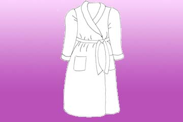 ladies statice dressing gown